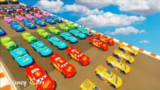 McQueen Cars3 Colors For Children To Learn with Cruz Ramirez Dinoco Hot Wheels Nursery Rhymes Songs
