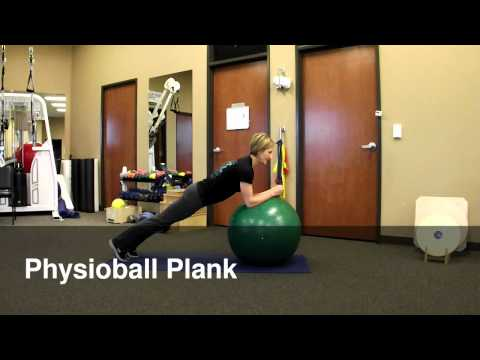 Physioball Plank