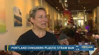 Portland considers plastic straw ban