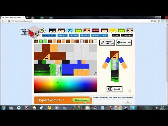 Jak si vytvořit svůj Minecraft skin
