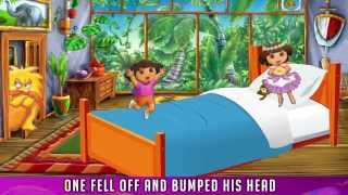 Dora the Explorer Five Little Monkeys Jumping on the Bed - Five Dora jumping on the bed