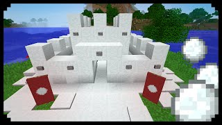 ✔ Minecraft: How to make a Small Snow Castle