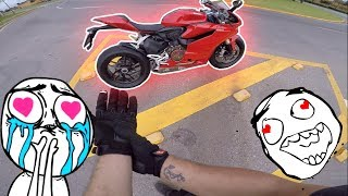😍🤩 PILOTEI MINHA MOTO DOS SONHOS 😍🤩 || Test ride Ducati Panigale 1199 ||