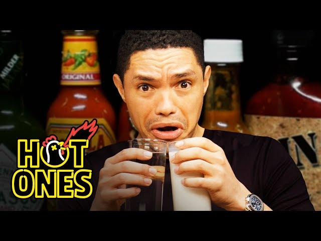Trevor Noah Rides a Pain Rollercoaster While Eating Spicy Wings | Hot Ones thumbnail
