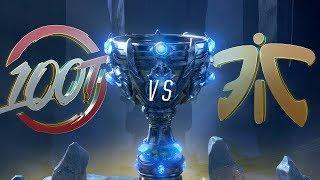 Mundial 2018: 100 Thieves x Fnatic (Jogo 1)   Fase de Grupos - Dia 2