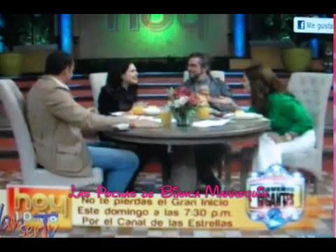 Desayunando con Bianca Marroquín♥ y Manuel 'Flaco' Ibañez en Hoy 13/04/12