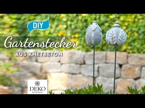 DIY: Hübsche Gartenstecker Aus Knetbeton Selbermachen [How To] Deko Kitchen