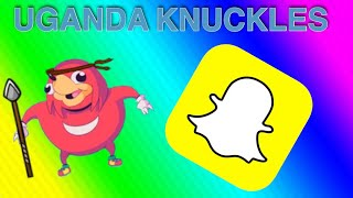 How to get the Ugandan Knuckles lens on Snapchat!