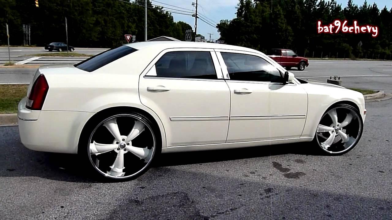 """Cream White Chrysler 300 on 26"""" Dcenti Rims [HomeTeam ..."""