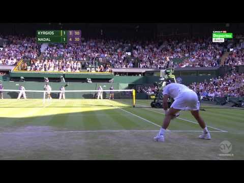 Rafa Nadal vs Nick Kyrgios wimbledon ( fool math) (hd) part 2  2014