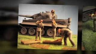 Tamiya Field Maintence Set and Diorama of Tiger One In 1/48 Scale
