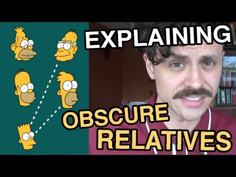 Guide to second cousins and other obscure relatives.