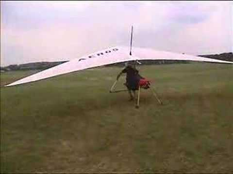 Jet powered Hang Glider Video