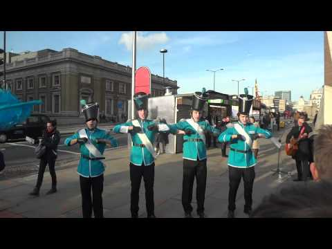 Barclays Bank Street Band in London UK