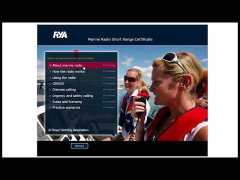 Online VHF Radio course instructions