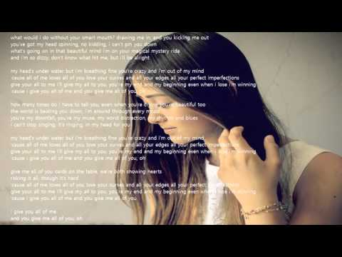 Jasmine Thompson - All Of Me lyrics