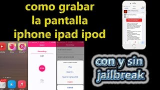 COMO GRABA APPLE CHAA SU PANTALLA | ANTREC | SHOU.TV | IPHONE IPOD IPAD
