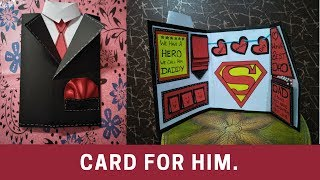how to make birthday cards| how to make suit tuxedo card\handmade birthday card for father\friend
