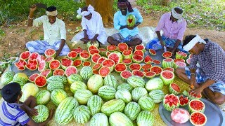500 KG WATERMELON | Summer Health Drinks | WaterMelon Juice from Farm Fresh Fruits | Village Cooking