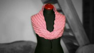 crochet neck warmer, crochet circle scarf