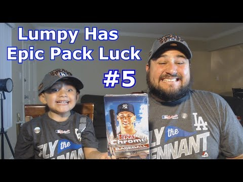 LUMPY HAS EPIC PACK LUCK | BENNY NO | Baseball Card Pack Opening #5