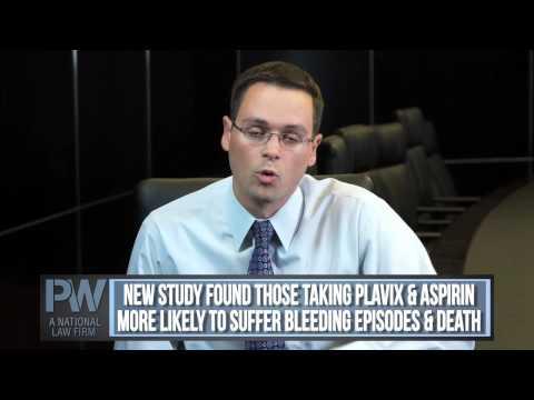 Plavix & Aspirin: Beneficial in Preventing Stroke? Attorney Michael Werner of Parker Waichman