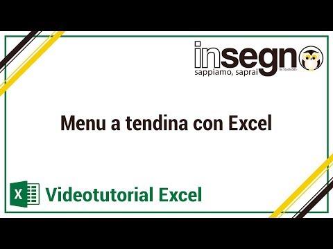 Excel lezione 2- Menu a tendina con Excel