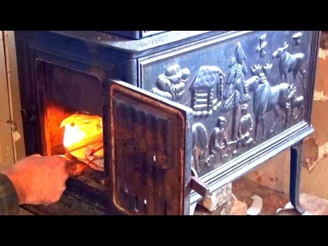 Wood Stove Through Wall Chimney Pipe Installation Howto