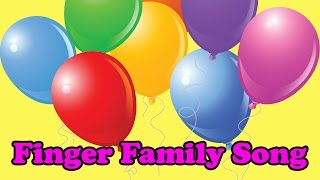 Learn Family & Extended Family Members with Colorful Balloons | Finger Family Nursery Rhyme Song