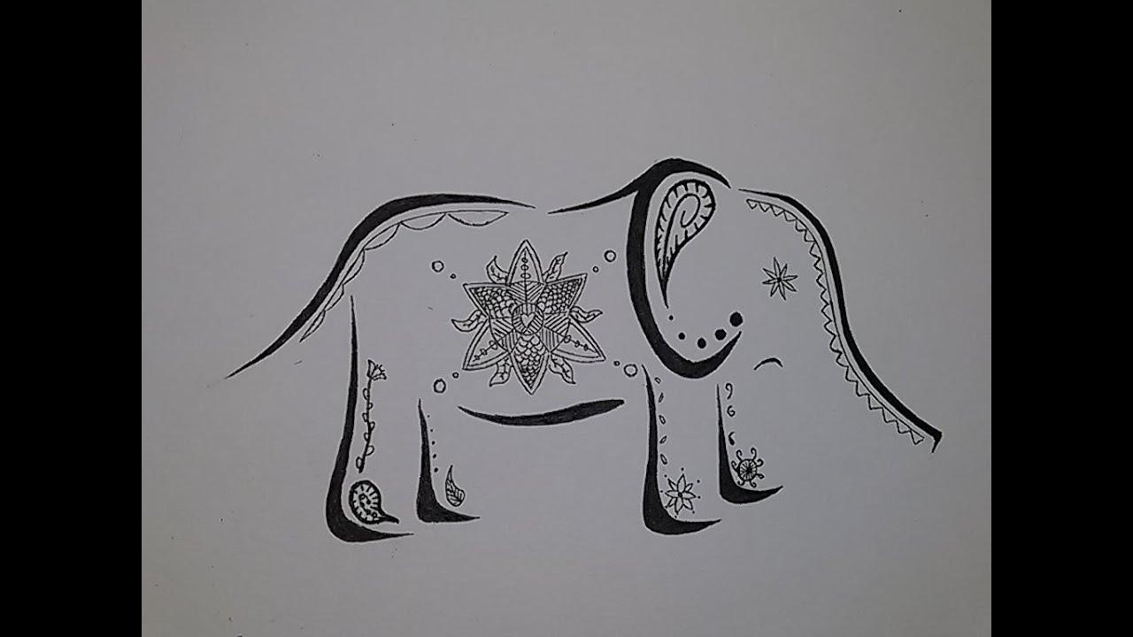Elephant Drawing Tattoo Drawing an Elephant Tattoo