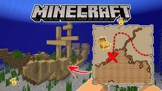 ⭐Como Encontrar Navio Pirata e o Mapa do Tesouro Minecraft ❕