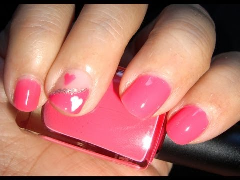 Tutorial uñas cortas: corazón rosa / Short nails tutorial: pink heart