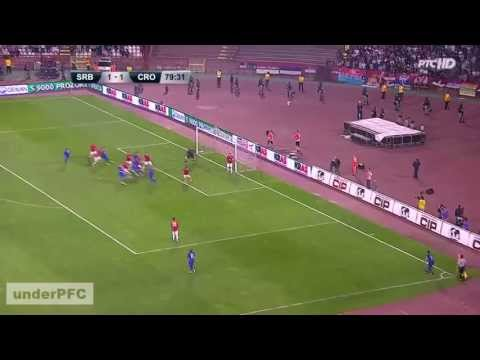 Josip Šimunić Vs. Miralem Sulejmani - Croatia 1 - 1 Serbia