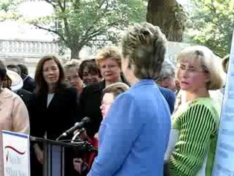 3/3 Sen. Barbara Mikulski &Hillary Clinton @ Equal Pay Rally for Ledbetter Fair Pay Restoration Act, Washington DC 7/17/08