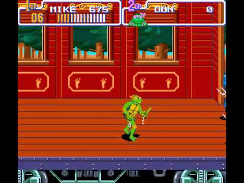 Teenage Mutant Ninja Turtles IV - Turtles in Time - TMNT IV Turtles in Time playthrough (hard) - User video