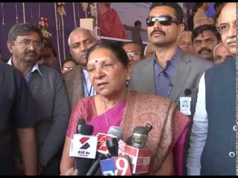 Gujarat CM briefs media persons on Sub minor canal works launched today