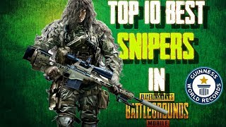 [TOP 10] BEST SNIPERS IN PUBG MOBILE | It's All About Accuracy | Savage Gaming