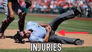 MLB Umpire Injuries Compilation ᴴᴰ