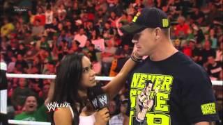 WWE Monday Night Raw - AJ Reveals Her Feelings for John Cena - 11/26/12
