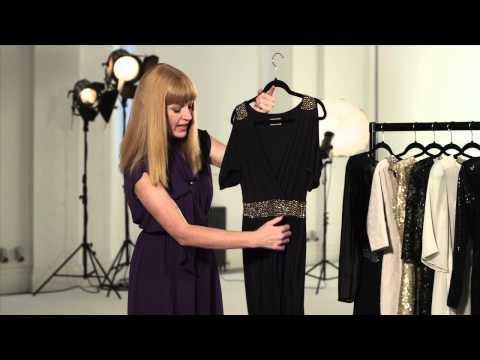 Black & gold detail dress video review (PJNBR)