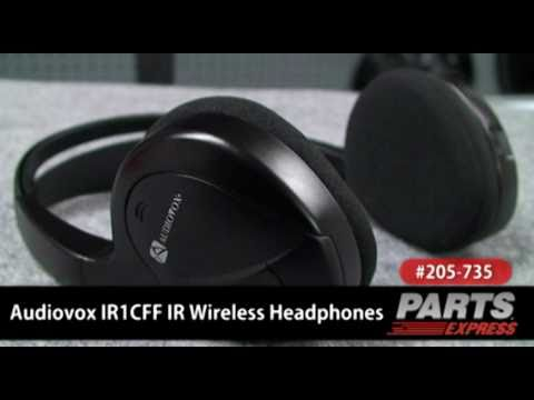 Audiovox IR1CFF IR Wireless Headphones