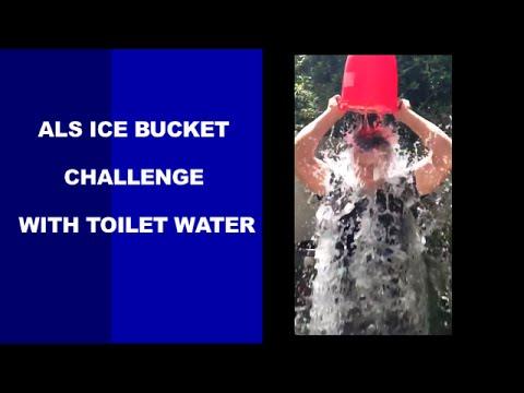 Matt Damon ALS Ice Bucket Challenge with toilet water
