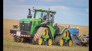 John Deere 7240R, 7810, 7930, 8100, 8320R, 8345R & 8530 Pulling The Sledge   Tractor Pulling DK