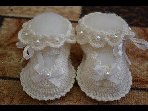 Вязание спицами пинеток для новорожденных пинетки