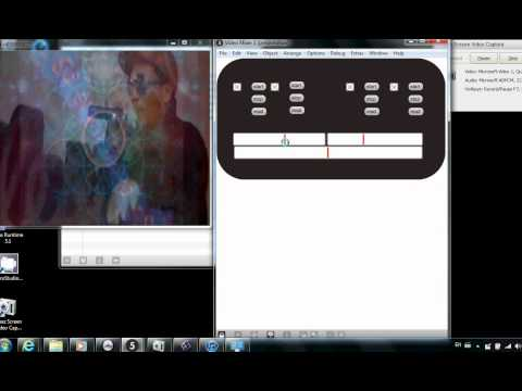 4 Channel Video Mixer  -  Jitter Program  -  Mark Johnston