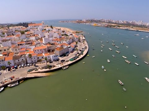 Ferragudo, Angrinha Beach,  S�o Jo�o do Arade Fort, Grande beach and Portim�o Marina aerial view