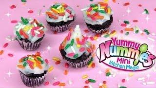 Yummy Nummies Mini Cupcakes DIY Kit! Mini Kitchen Magic NO Bake Cupcakes!