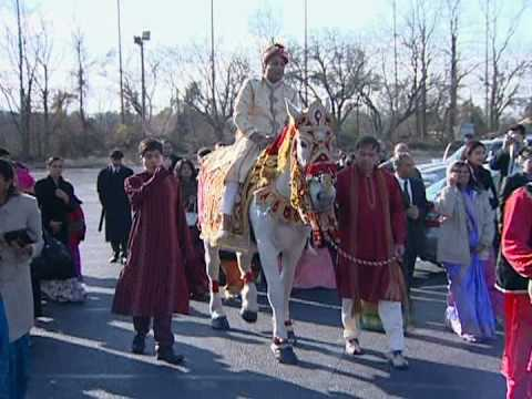 Groom Rides A Horse Indian Marriage Procession Hindu Wedding Video Sample