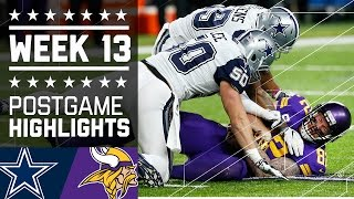 Cowboys vs. Vikings (Week 13) | Game Highlights | NFL