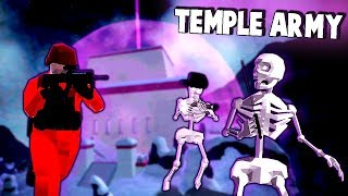 Mysterious TEMPLE of DOOM!  NEW Zombies (Ravenfield New Update Gameplay)